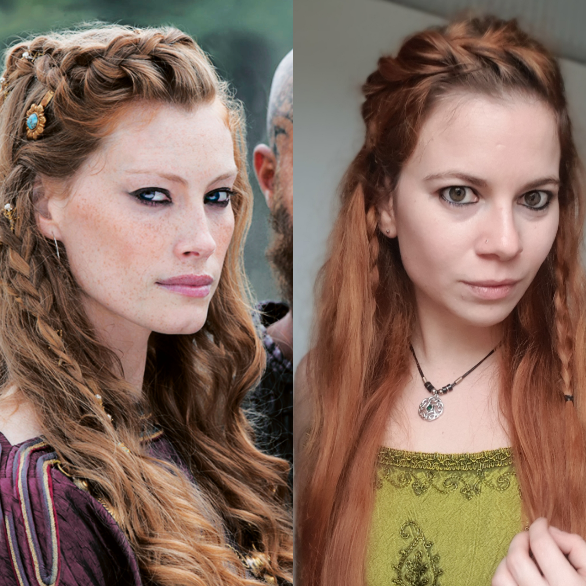Viking Hairstyle Female Tutorial Pemudi H
